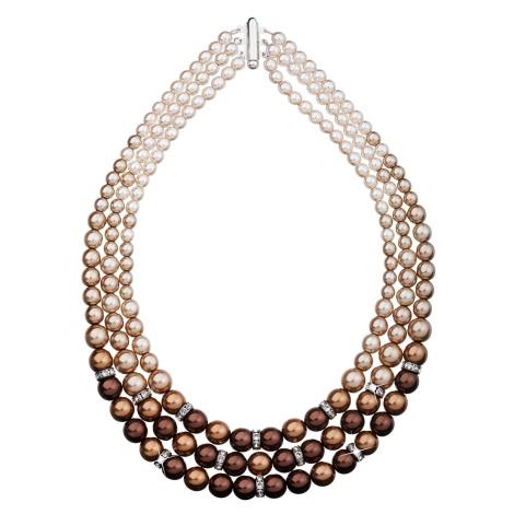 Evolution Group Perlový náhrdelník hnědý 32009.3