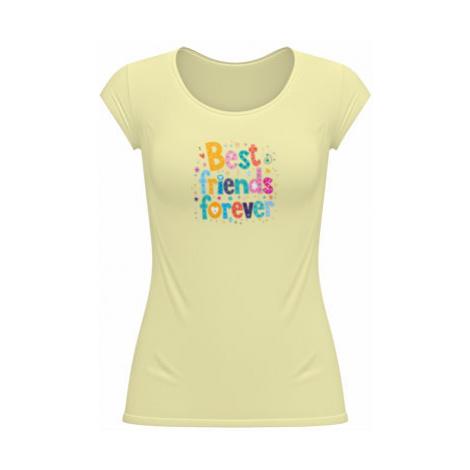 Dámské tričko velký výstřih Best Friends