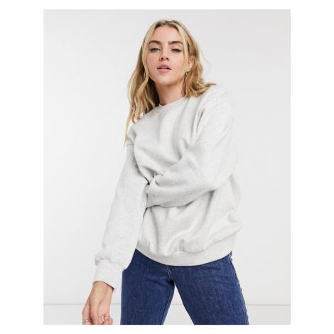 Bershka oversized sweat top in grey