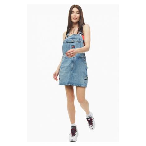 Tommy Hilfiger Tommy Jeans dámské laclové denim šaty DUNGAREE DRESS CRLT