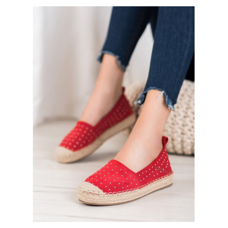 GOODIN RED SUEDE ESPADRYLE