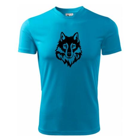 Hlava vlka černobílá (Hana-creative) - Pánské triko Fantasy sportovní (dresovina)