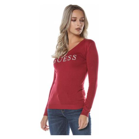 Guess GUESS dámský červený svetr