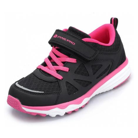 Dětské sportovní boty Alpine Pro TOMAH - černo-růžová