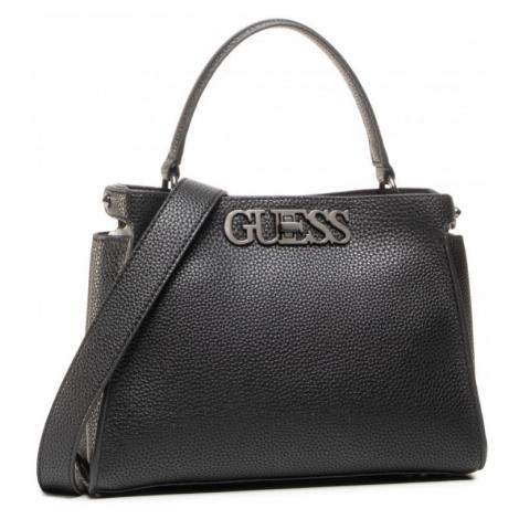 Guess GUESS dámská černá kabelka UPTOWN CHIC TURNLOCK SATCHEL