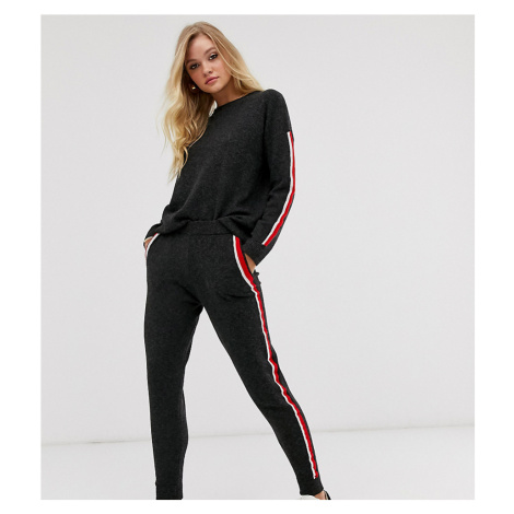 M Lounge knitted joggers with contrast side stripe co-ord-Black
