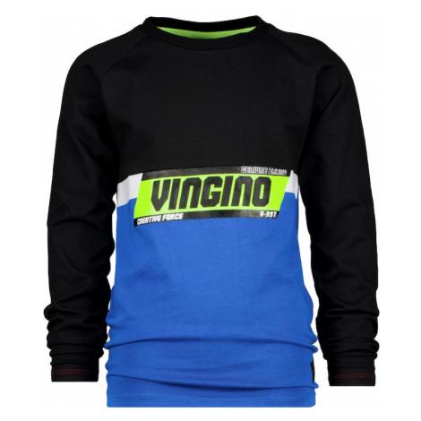 VINGINO Tričko 'JEVON' nebeská modř / černá / bílá / žlutá
