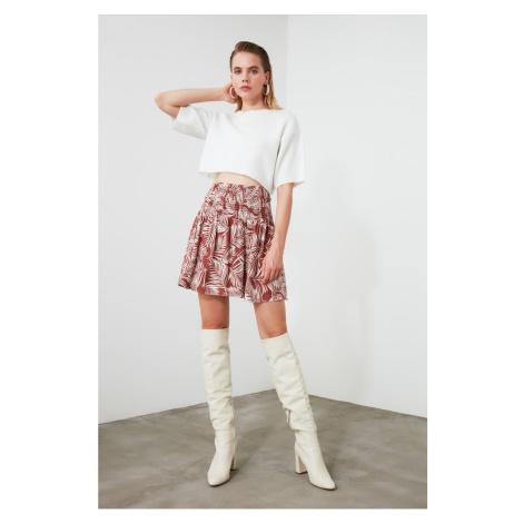 Trendyol Brown Ruffled Skirt