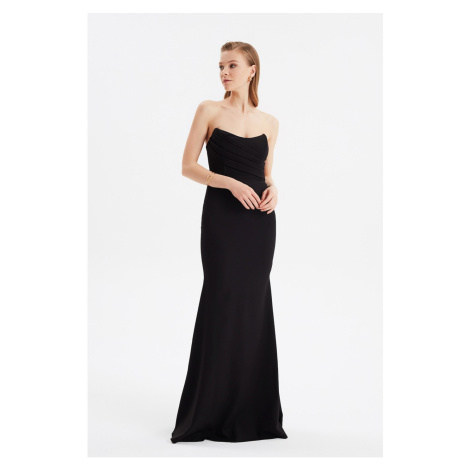 Trendyol Neck Detailed - Evening Dress & Graduation Dress