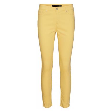 VERO MODA Džíny 'Hot Seven' žlutá