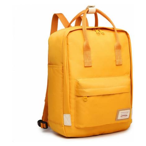 Žlutý elegantní nepromokavý batoh na notebook Herve Lulu Bags