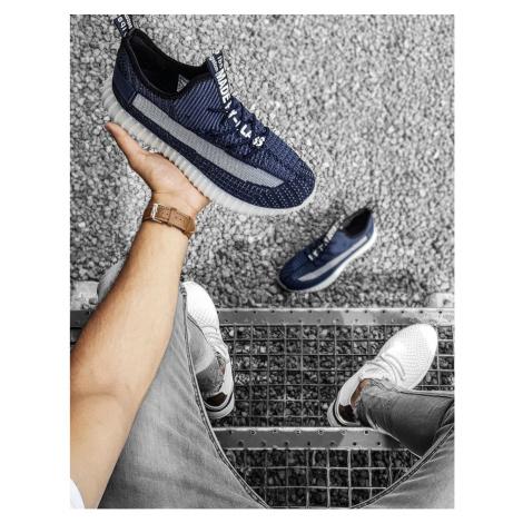 Navy blue men's shoes ZX0184 DStreet