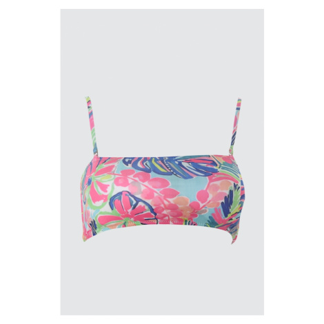 Trendyol Floral Bandeau Bikini Top