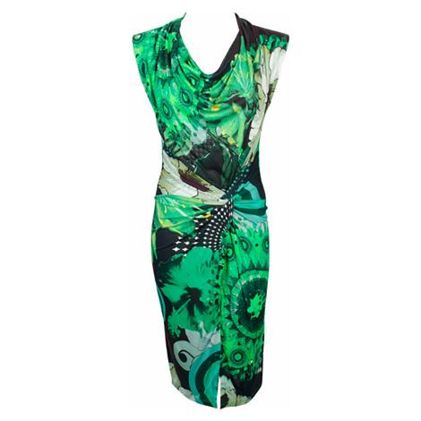 Zelenočerné šaty Desigual