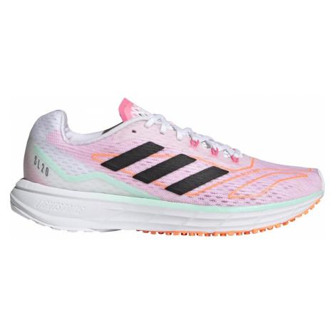 Dámská běžecká obuv adidas SL 20.2 Summer.Ready W Růžová / Bílá