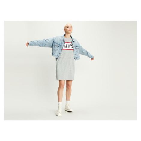Šaty Levi´s® Logo Tee Dress dámské světle šedé