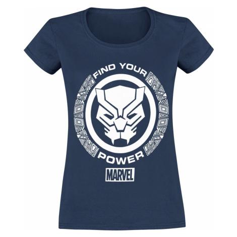 Avengers Black Panther - Find Your Power Dámské tričko námořnická modrá