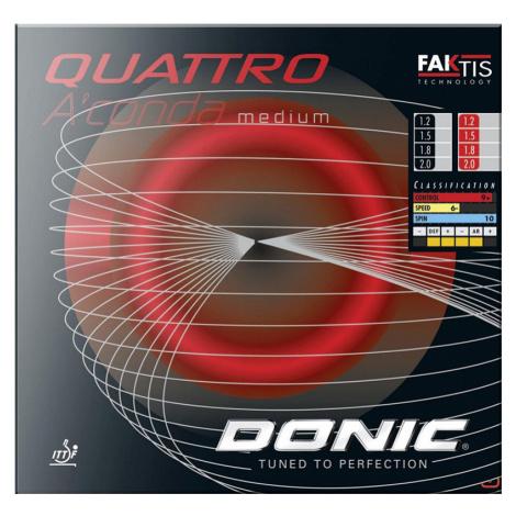 Potah Donic Quattro Aconda Medium červená 1,8 mm