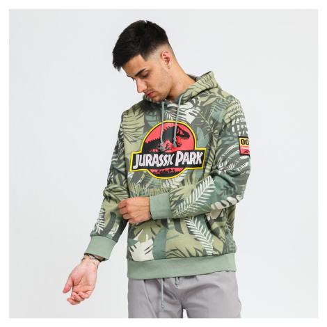 Reebok Jurassic Park AOP Hoodie olivová / béžová / zelená