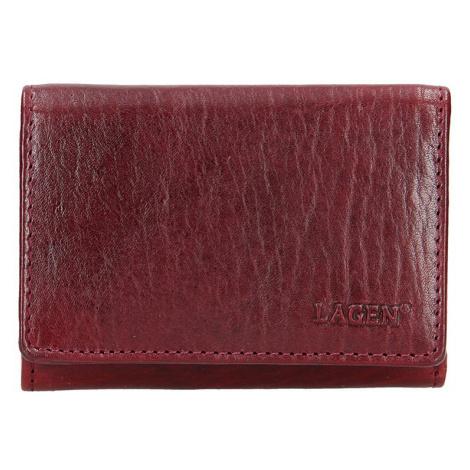 Lagen Dámská peněženka kožená LM 2520/T Vínově červená
