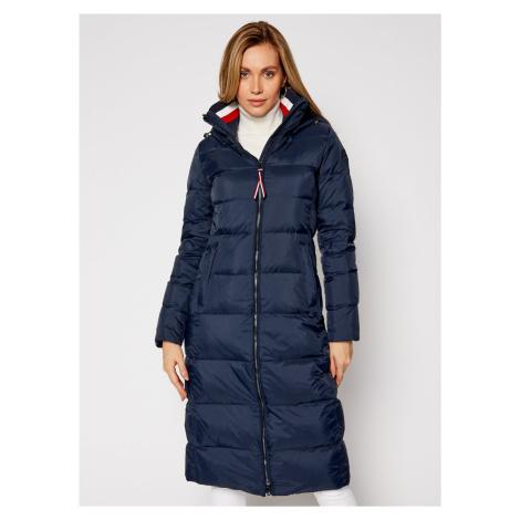 Tommy Hilfiger dámská tmavě modrá dlouhá bunda