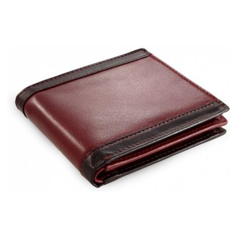 Červená pánská kožená exkluzivní peněženka Abner Arwel