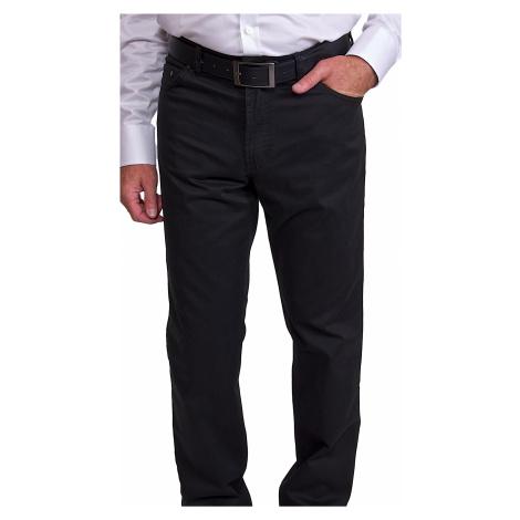 Černé volnočasové kalhoty Alain Delon