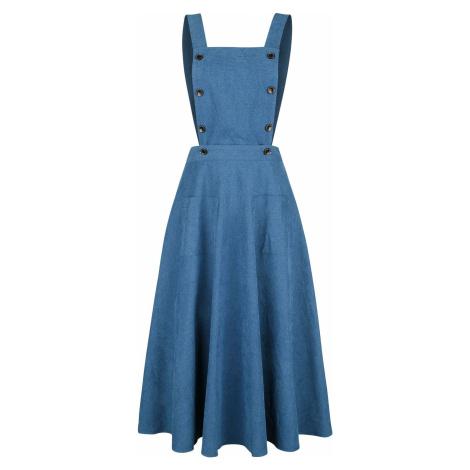 Banned Retro Šaty s kruhovou sukní Book Smart Šaty modrá