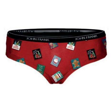 Dámské kalhotky hipster John Frank WJFD-H25 Červená