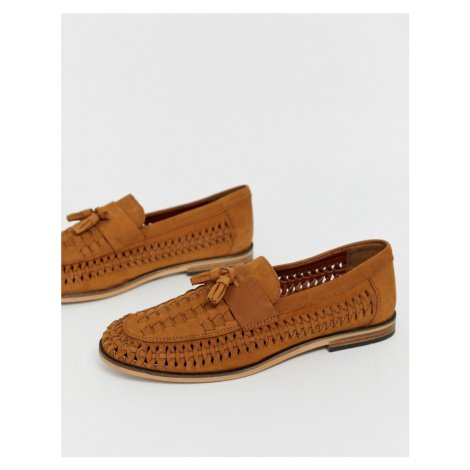 River Island woven loafers in tan