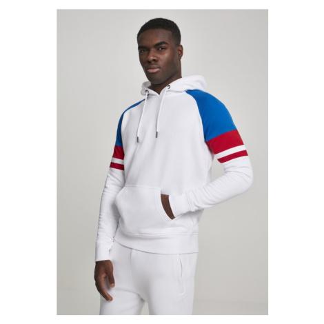 Raglan Racing Hoody - white/brightblue/firered/white Urban Classics