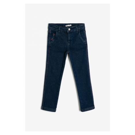 Koton Blue Pocket Detail Trousers