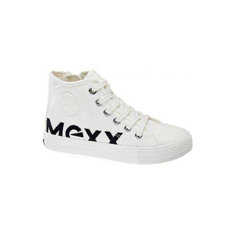 Bílé kotníkové plátěné tenisky Mexx