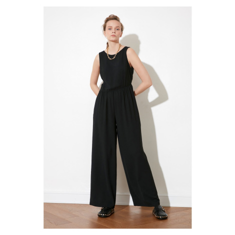 Trendyol Black Sleeveless Jumpsuit