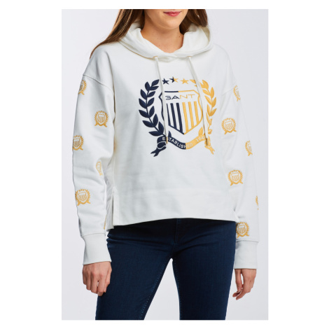 MIKINA GANT D1. CREST EMBROIDERY SWEAT HOODIE