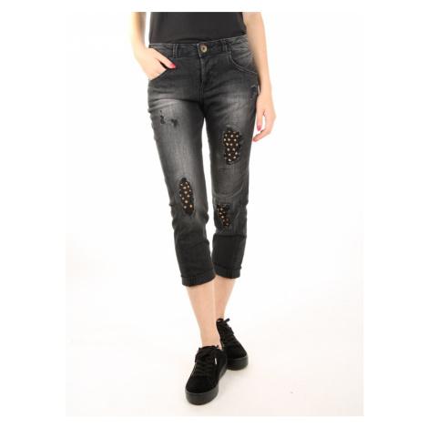 Guess dámské černé vydřené džíny