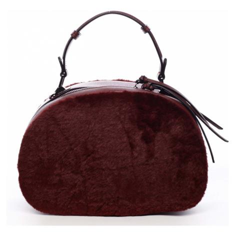 Dámská kožešinová kabelka vínová - MARIA C Hasiel Maria C.