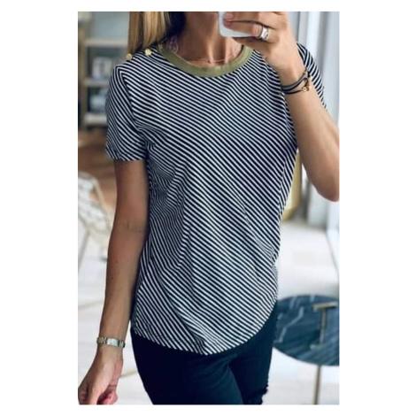 Ralph Lauren dámské tričko s šikmými proužky