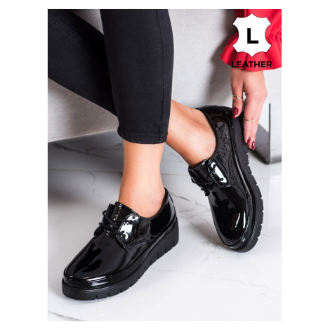 FILIPPO BLACK LEATHER SHOES