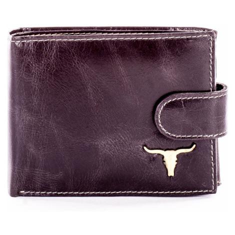 Černá kožená peněženka s oděrkami