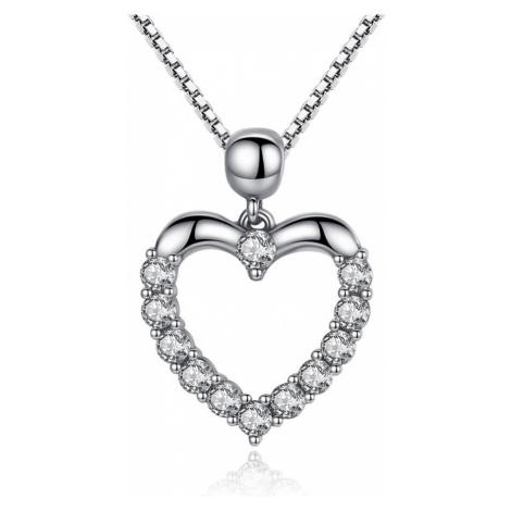 Linda's Jewelry Stříbrný náhrdelník se zirkony Love INH033