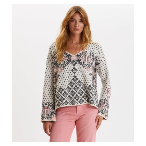 Svetr Odd Molly Entanglement Sweater - Bílá