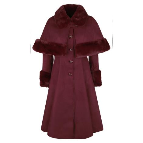 Hell Bunny Kabát Capulet Dámský kabát červená