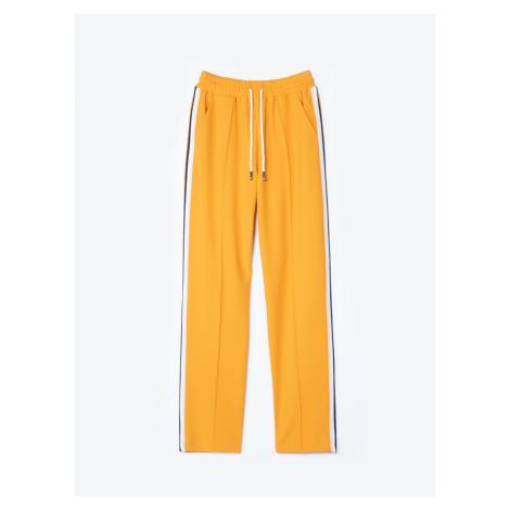 GATE Široké kalhoty s lampasy