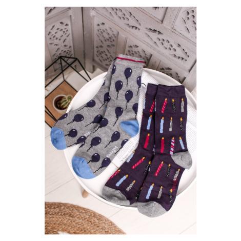 Vícebarevné ponožky Bamboo Party Socks in a Bag - dvojbalení Thought