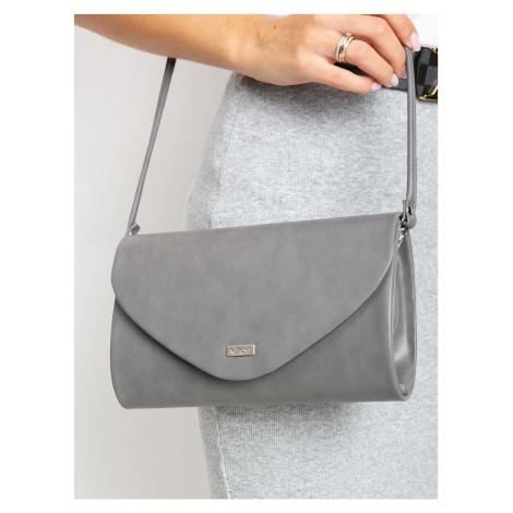 Dark gray eco-leather clutch