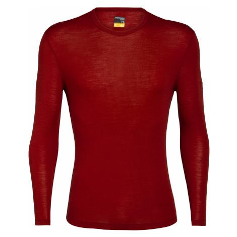 Pánské triko dlouhý rukáv ICEBREAKER Mens 175 Everyday LS Crewe, Oxblood (vzorek) Icebreaker Merino