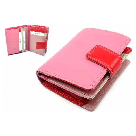 Dámská luxusní peněženka kožená růžová Golunski
