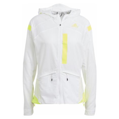Dámská běžecká bunda adidas Marathon Bílá / Žlutá