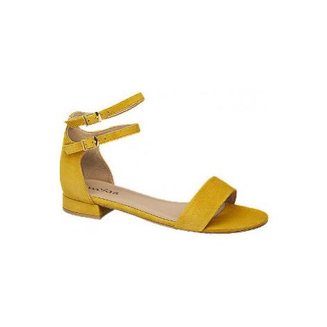 Žluté kožené sandály Wojas